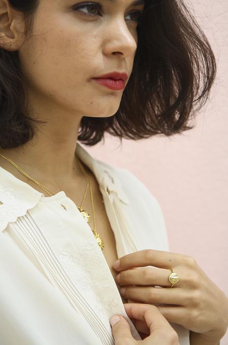 Eyland Phoebe moon ring - gold