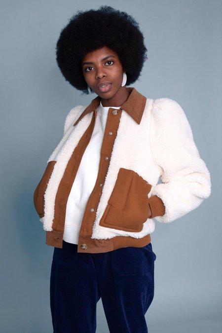 L.F. Markey Lawrence Coat - Cream/Brown