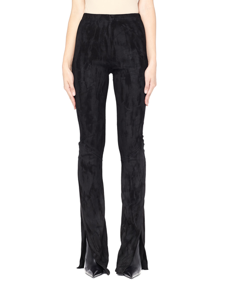 Urban Zen Suede Cut Out Pants - Black