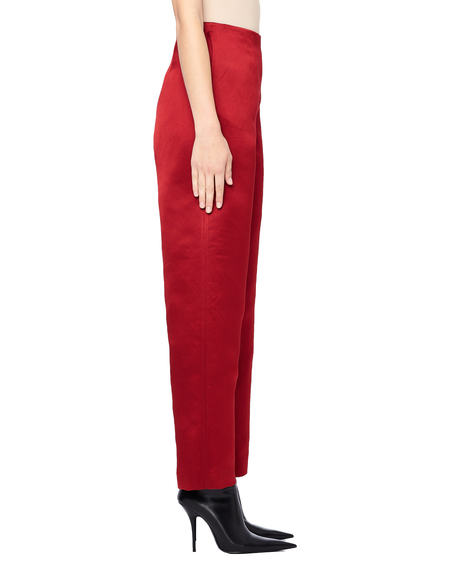 The Row Strom Wide Leg Silk Pants - Red