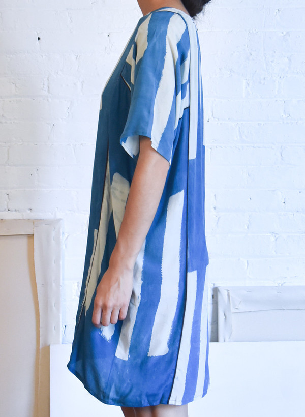 Seek Collective Rad Dress, sky griffa print