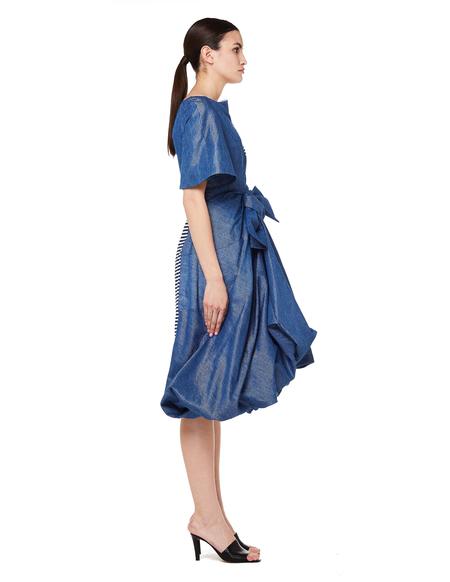 Junya Watanabe Asymmetrical Denim & T-shirt Dress