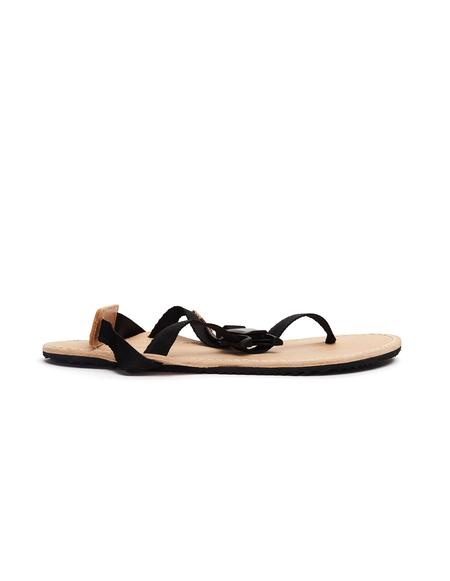 Hender Scheme Devise Strap Sandals - Black/Natural