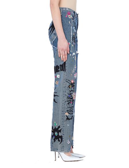 Vetements Cotton Jeans - Navy Blue