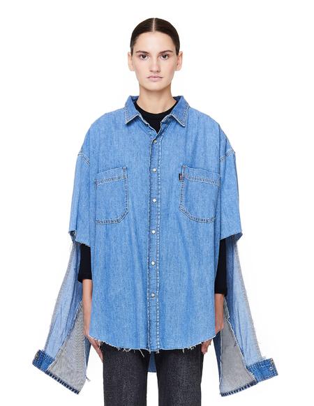 Vetements Levi's Denim Shirt with Cutout Sleeves