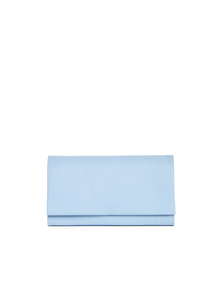 Isaac Reina Blue Leather Wallet