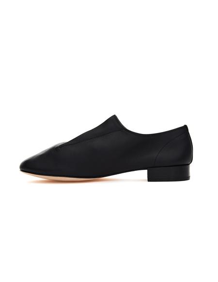Yohji Yamamoto Repetto Black Leather Loafers