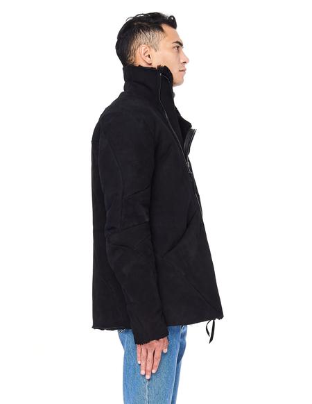 Leon Emanuel Blanck Distressed Shearling Coat - Black