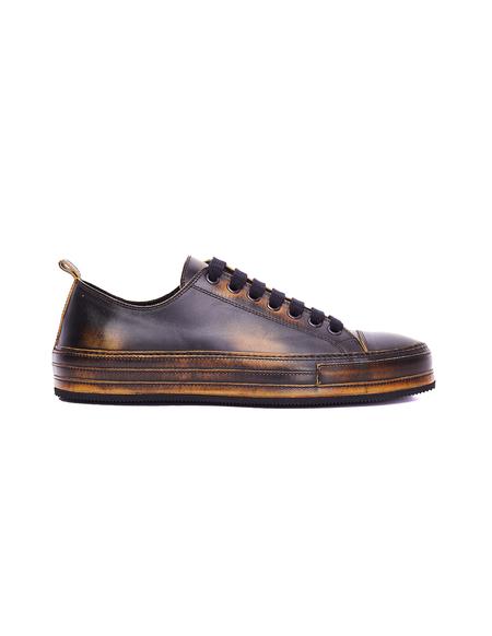 Ann Demeulemeester Brown Leather Asportabile Sneakers