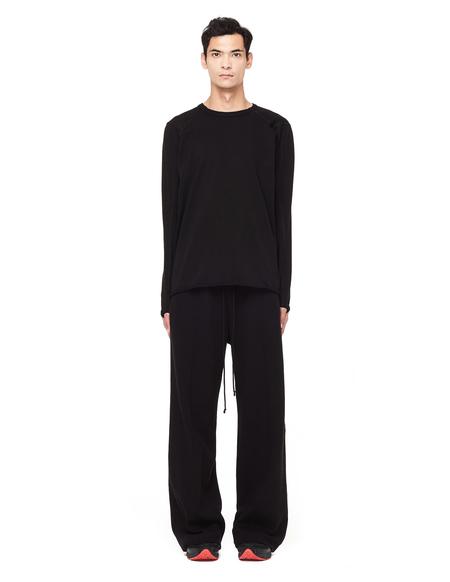 Isaac Sellam Leather Seams Long Sleeve T shirt - BLACK