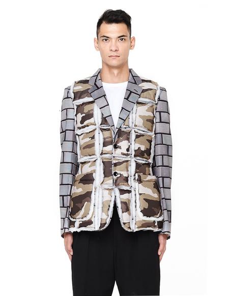 Comme des Garcons Homme Plus Padded Jacket - Bricks/Camo Print