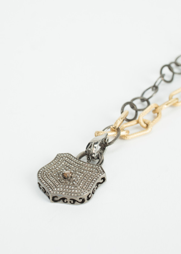Jewels by Piper Diamond Lock Necklace