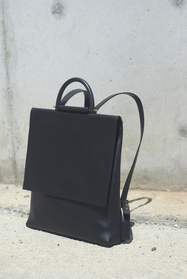 Building Block Leather Rucksack