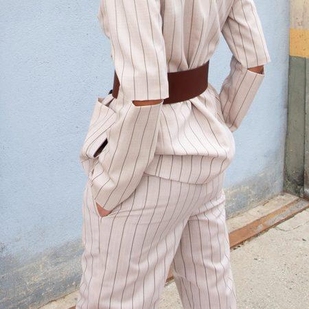Tibi Tropical Wool Sculpted Pant - Hazelwood
