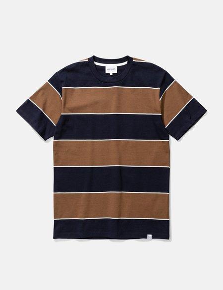 Norse Projects Johannes 3 Stripe T-Shirt - Russet