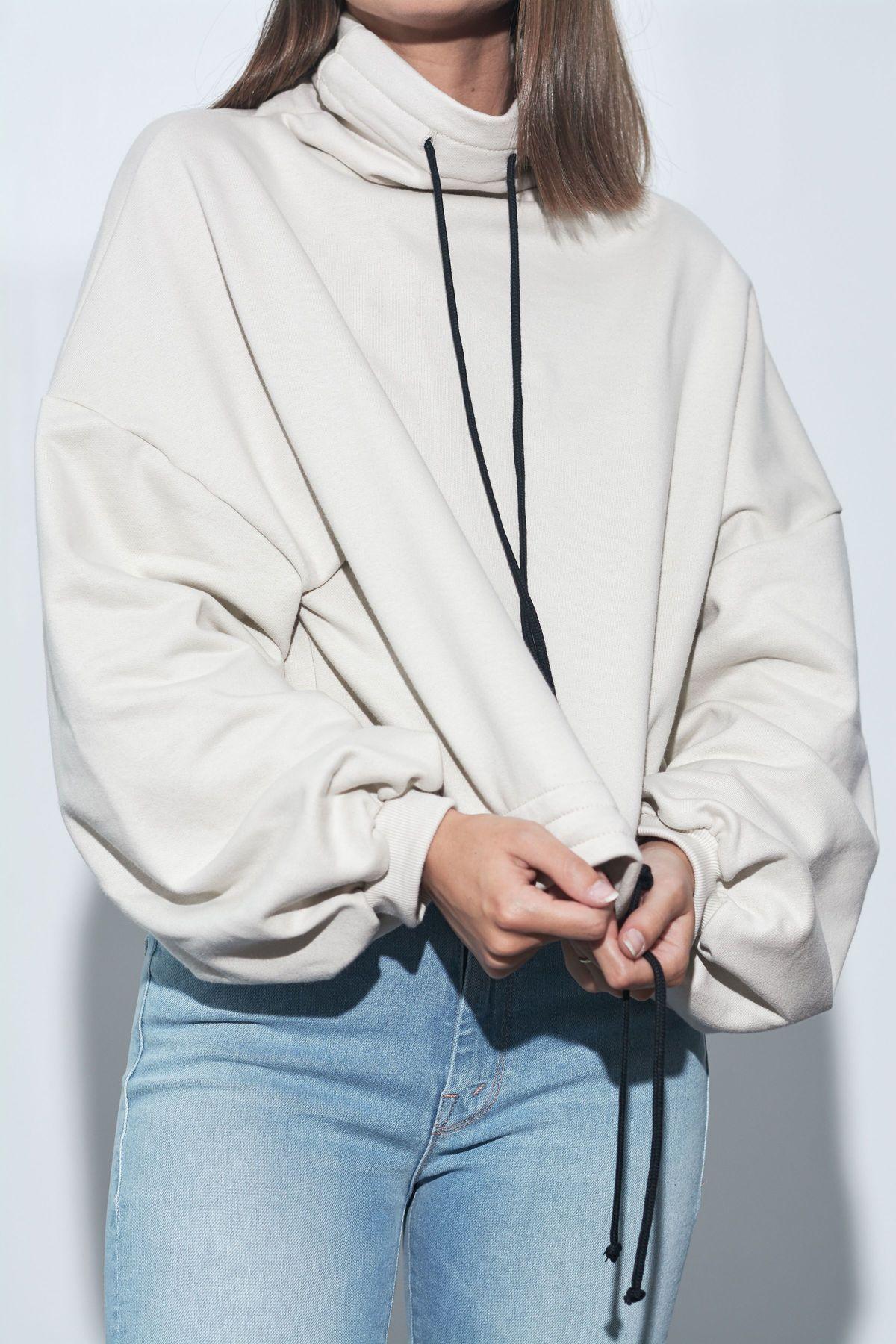 The Range Contra Terry Cinched Sweatshirt - Limestone