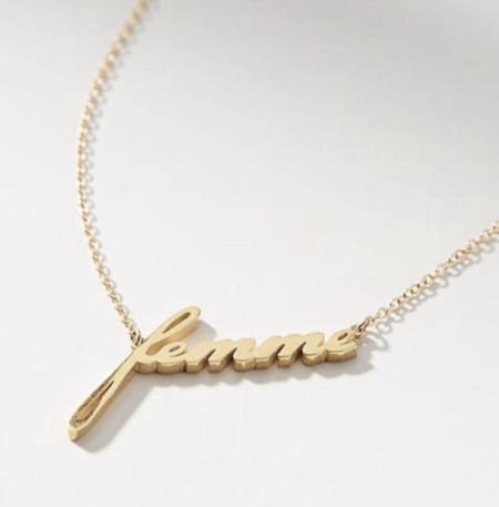 Thatch Femme Script Necklace - 14k Gold