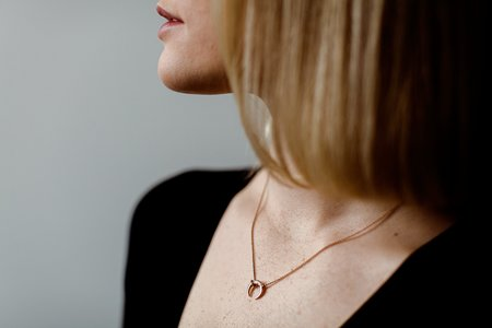 Zofia Day Petite Horn Necklace - 14k Rose Gold
