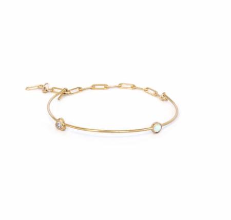 Thatch Suki Bracelet - 2 Stone Mix/14k Gold
