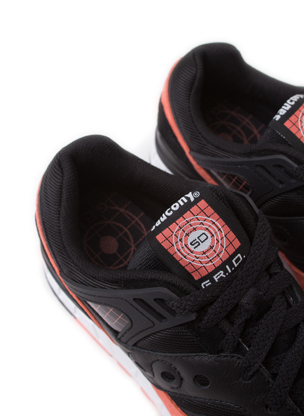 Men's Saucony Grid SD Premium Black/Salmon