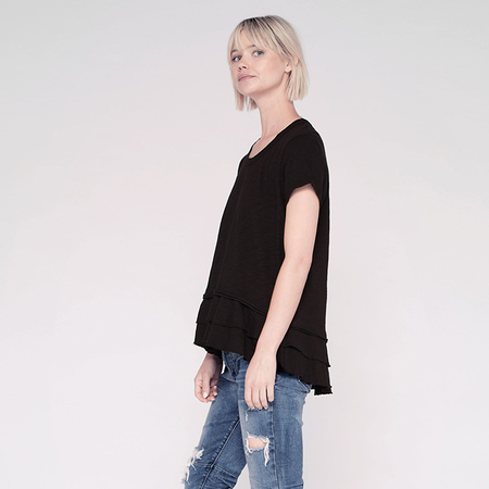 Wilt double tier crew - washed black