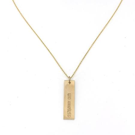 Becoming Los Angeles Necklace - Gold