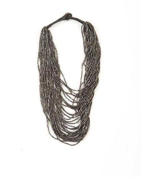 Ink + Alloy Seed Bead Necklace