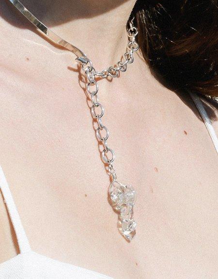 Cled Amorphous Half Chain Choker