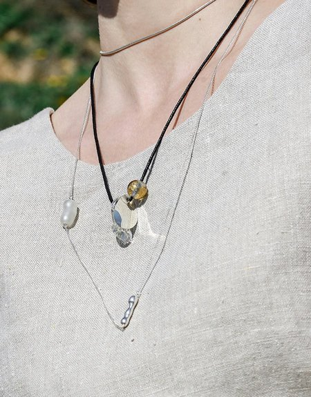 Cled Amorphous Long Cluster Necklace