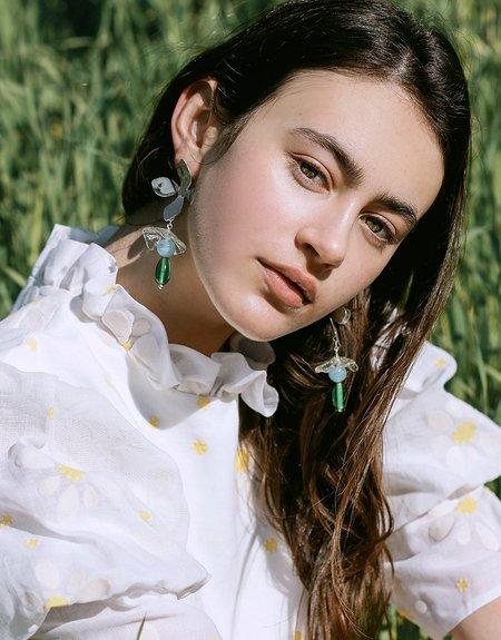 Cled Wildflower Earrings - Sterling Silver