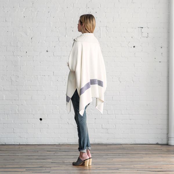 Apiece Apart Esperanza Neck Knit Poncho - SOLD OUT