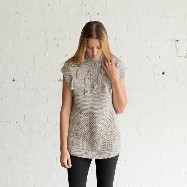 Apiece Apart Ines Fringe Multi Stitch Vest