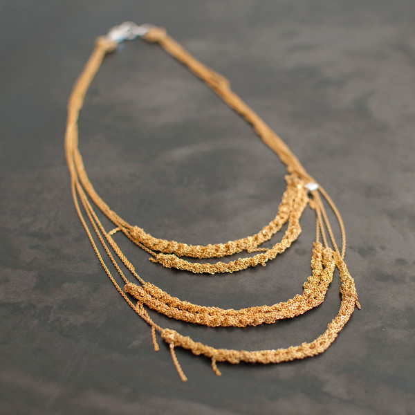 Arielle De Pinto 5-tiered Clasped Bare Chain Necklace - SOLD OUT