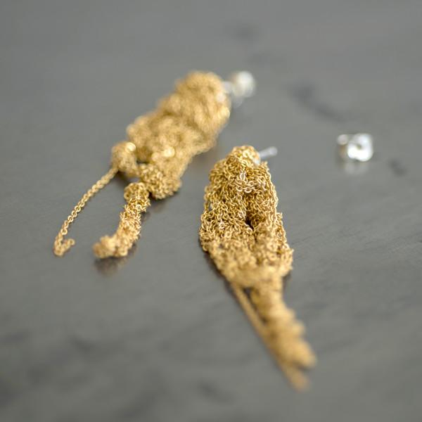 Arielle De Pinto Drip Earrings Gold