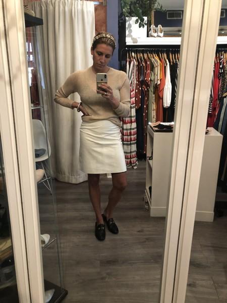 CLOSED Birte Leather Skirt - white