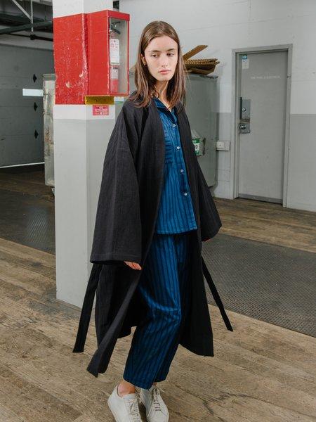 Priory Fan Robe - Natural Jacquard Black