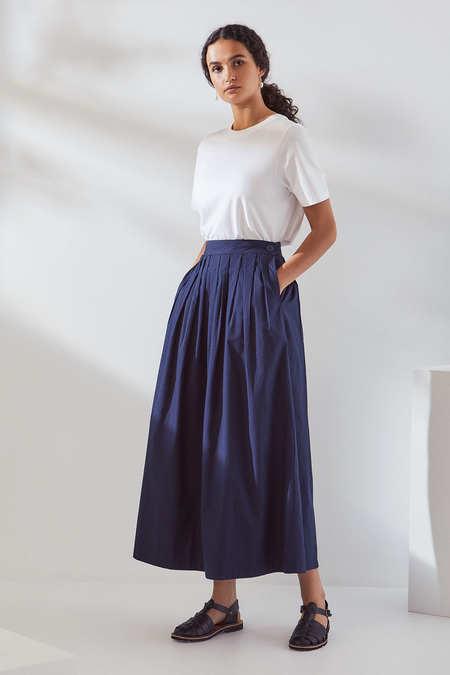 Kowtow Line Skirt in Navy