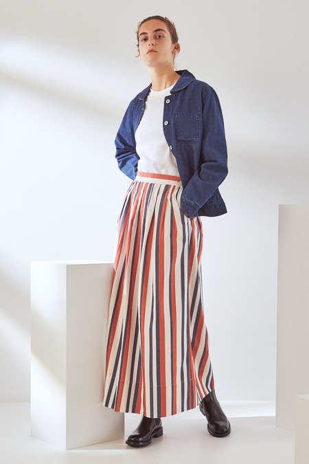 Kowtow Line Skirt in Parasol Stripe