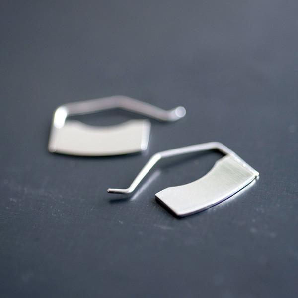 Erin Considine Blade Mini Hoop Silver - SOLD OUT