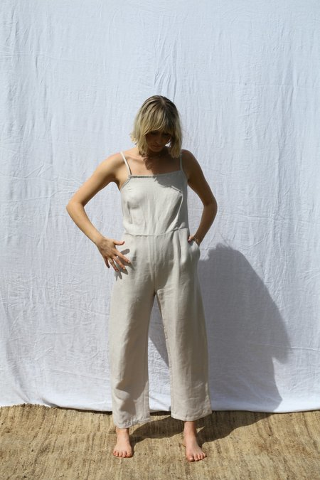 Mimi Holvast Fitted Strappy Jumpsuit - Pearl