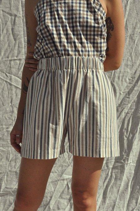 Mimi Holvast Scrunchie Shorts - Alfresco Stripe
