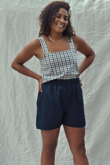 Mimi Holvast Scrunchie Shorts - Deep Sea