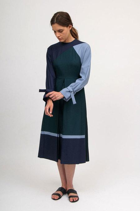 Bodice Box Pleated Dress