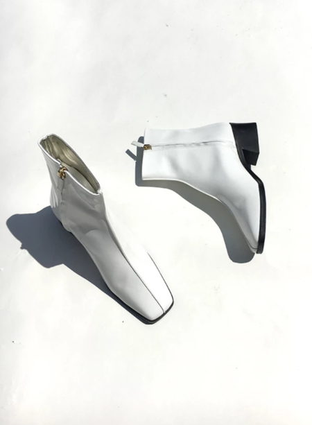 Suzanne Rae Welt Sole Boot - White