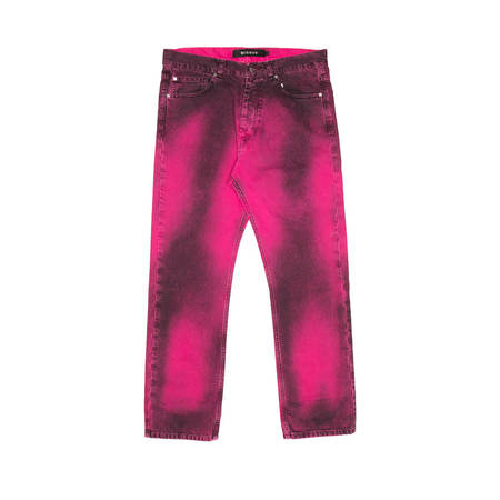 MISBHV Straight Leg Denim Pants - Pink