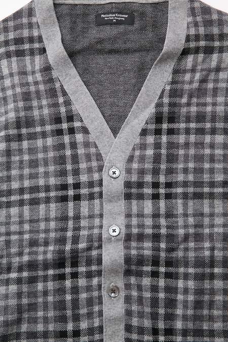 Meticulous Knitwear Woodstock Combo - Charcoal/Black/Grey Plaid