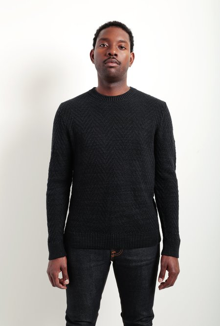 life/after/denim Herringbone Crew Sweater - Black