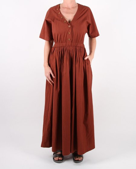 Feather Drum Layne Dress - Brandy