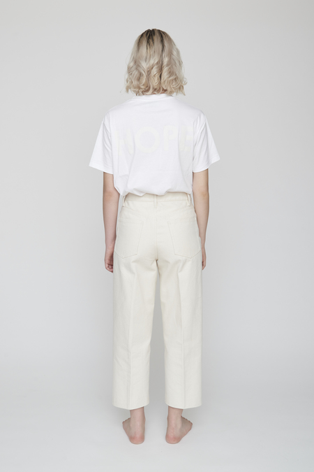 Unisex Tanaka DAD JEAN CROP TROUSERS - White Canvas