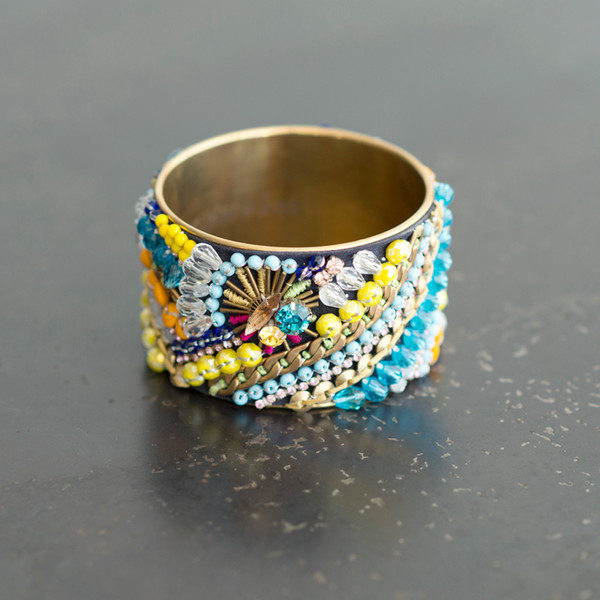 Megan Park Ishani Jewel Brass Bangle - SOLD OUT